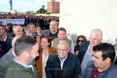 Santiago Abascal, presidente de VOX, conociendo las reivindicaciones del sector de la mano de COAG y ASAJA