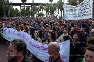 Inicio de la marcha por parte de los agricultores