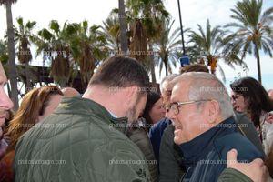 Santiago Abascal, conociendo las reivindicaciones de los agricultores, de la mano de Pascual Soler, presidente de Asaja Almería
