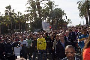Bernabé, líder de Unión de Agricultores Independientes, a la cabeza de la segunda parte de la manifestación