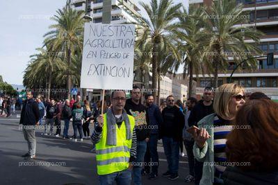 Un manifestante expresa su opinión con una pancarta durante la separación de la marcha de la manifestación en dos