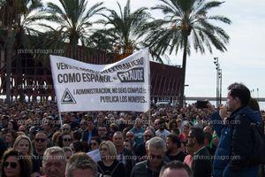 Pancarta con una de las reivindicaciones de los agricultores el 19N