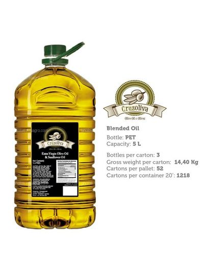 Aceite de oñiva Pet 5 L