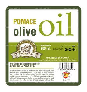 Pomace Olive Oil label