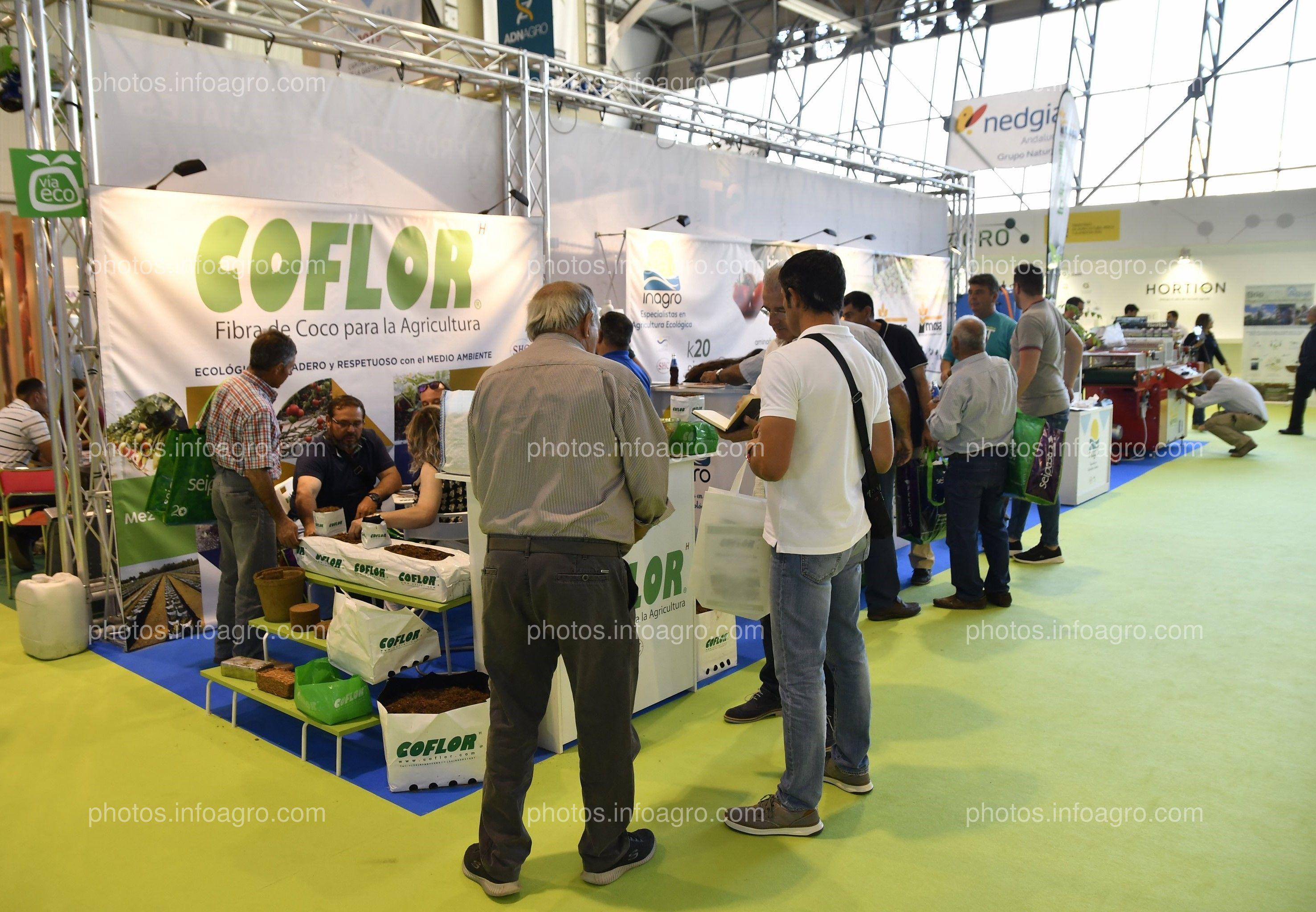 Hidroponía del Coco, Inagro y Mosa green - Stand Infoagro Exhibition