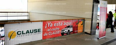 Barandilla entrada principal - Espacios publicitarios Infoagro Exhibition