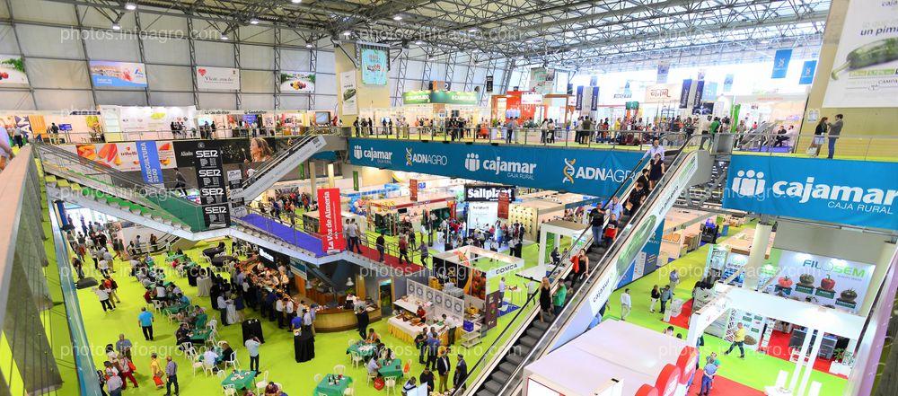 Perímetro interior hueco escalera - Espacios publicitarios Infoagro Exhibition