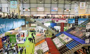 Carteles aéreos laterales - Espacios publicitarios Infoagro Exhibition