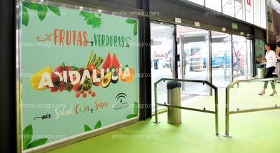 Cristalera entrada principal - Espacios publicitarios Infoagro Exhibition
