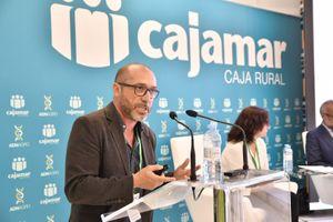Diego Orzáez, durante su ponencia en la sala de conferencias de Infoagro Exhibition 2019