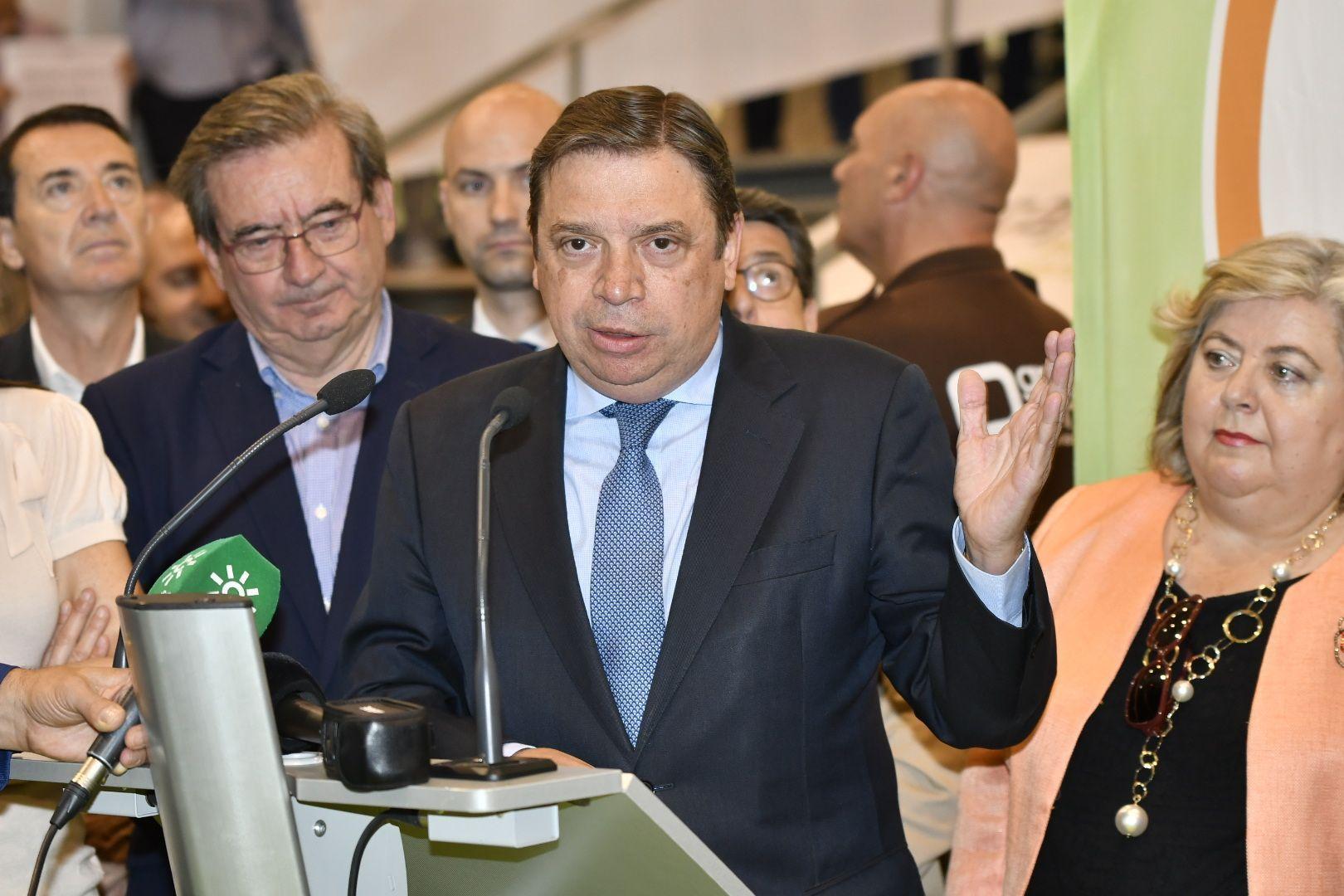 Luis Planas, ministro de Agricultura, en su discurso durante el acto de inauguración de Infoagro Exhibition 2019
