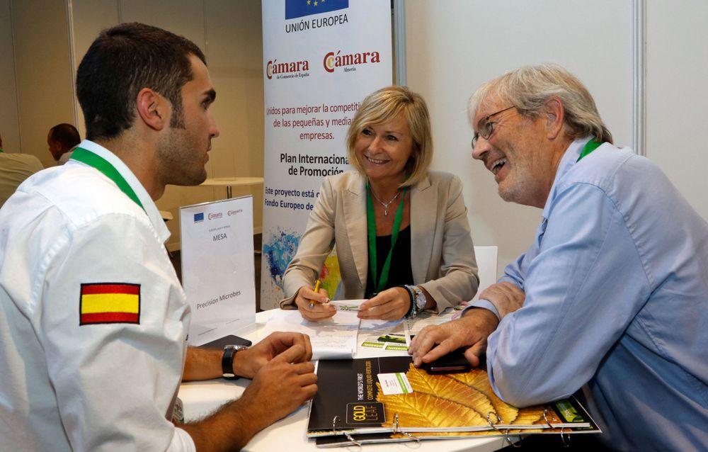 Reunión entre empresas expositoras en Infoagro Exhibition 2019