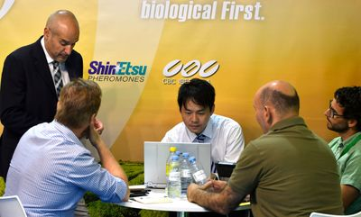 Realización de negocios durante la celebración de Infoagro Exhibition 2019