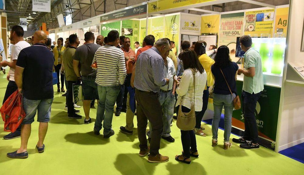 Visitantes profesionales acuden a los stands de las empresas expositoras en Infoagro Exhibition 2019 para conocer sus productos y servicios