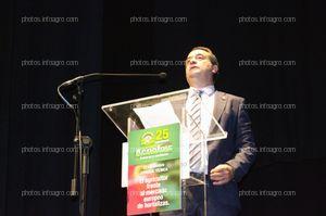 Javier Díaz Sánchez, director de Agroiris, en su discurso de celebración del 25 Aniversario de la empresa.