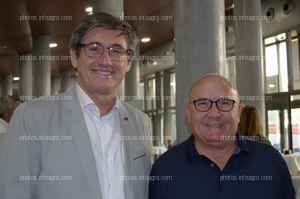 Manuel Cortés, alcalde de Adra, y Francisco López, concejal de Agricultura del Ayuntamiento de Adra, acudieron al acto de celebración del 25 aniversario de Agroiris.