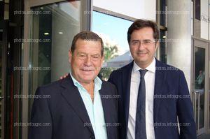 José Luque Villegas, presidente de Agroiris, y Francisco Góngora, alcalde de El Ejido, durante el acto de celebración del 25 Aniversario de Agroiris.