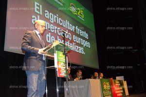 Manuel Gómez Galera, director general de Agricultura y Ganadería de la Junta de Andalucía, durante el acto de clausura del acto del 25 Aniversario de Agroiris.