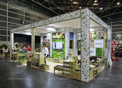 Stand de Hortalia, Agricultura urbana, en Iberflora 2019